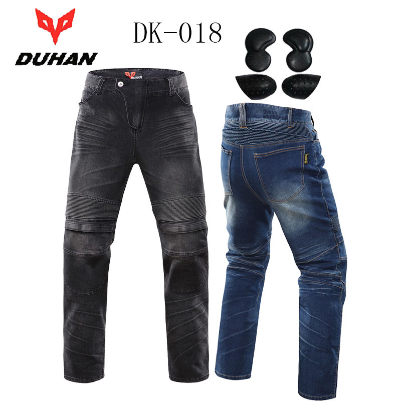Summer men Moto trousers ,wearproof motocross Jeans DUHAN DK 018 with armor ,motorcycle pants outdoor pantalon moto distressed blue jeans men latin cow brand clothing mid stripe luxury denim destoyed men s moto biker jeans ripped uomo 802 c