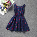 Casual Toddler Girl Dresses Cute Girl Dress Fruit Cherry Pattern Print New Fashion Backless Korean Children Clothing Tutu Dress