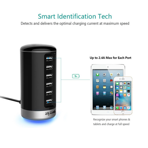 Vogek 6 Ports QC2.0 Quick USB Charger Mobile Phone Charger for Samsung Huawei LG Iphone Adapter EU/US Plug Charging Station Karachi