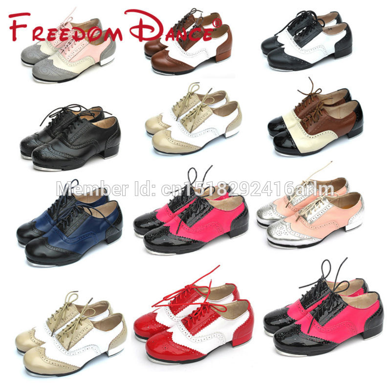 Brand New Hot Sale Baroco Style Genuine Leather Vintage Tap Shoes Flamenco Dancing Shoes Men Women