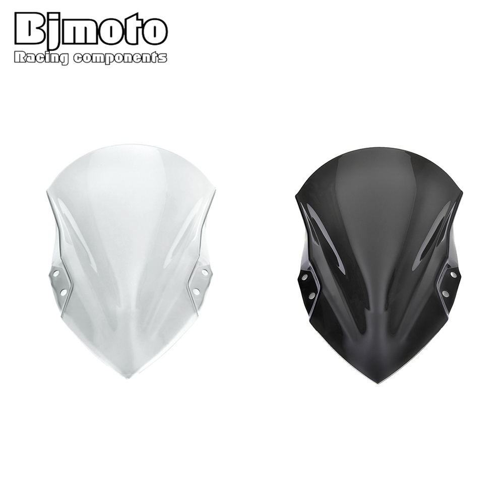 BJMOTO Motorcycle Windshield <font><b>Windscreen</b></font> For Kawasaki <font><b>ninja</b></font> <font><b>400</b></font> ninja400 2018-2019 Street Bike Wind Deflectors image