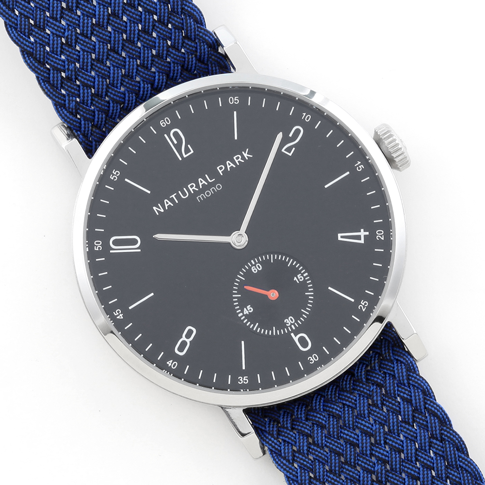 ФОТО 2016 New Watch Quartz Casual Wristwatch NATURAL PARK Luxury Brand Watches  relojes hombre Blue Nylon Band Waterproof