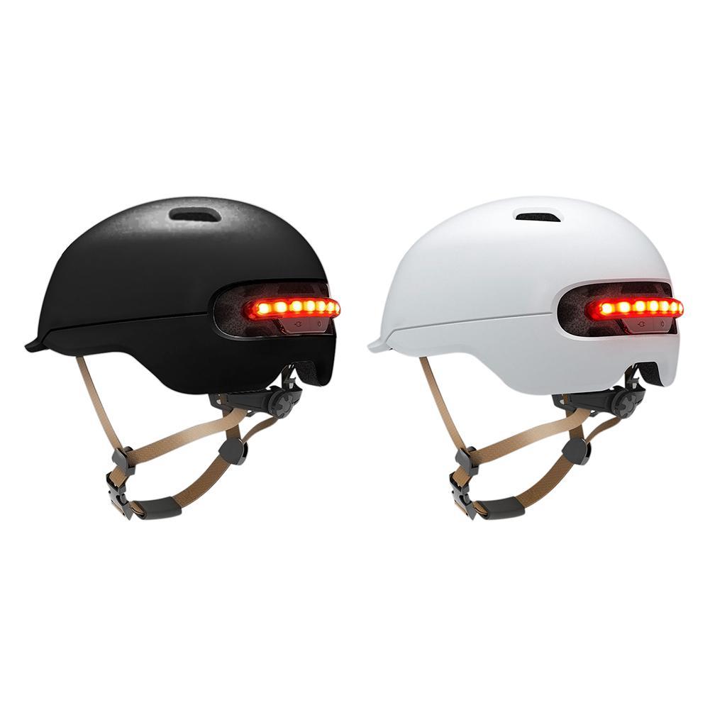 Waterprooof EPS + PC Capacete de Scooter com LED Luz de Advertência para Xiaomi M365 Skate Scooter Elétrico Bicicleta Ciclismo Capacete