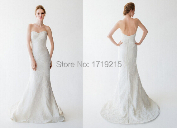 Tight Wedding Dress Long Mermaid Sweetheart 2015 Backless
