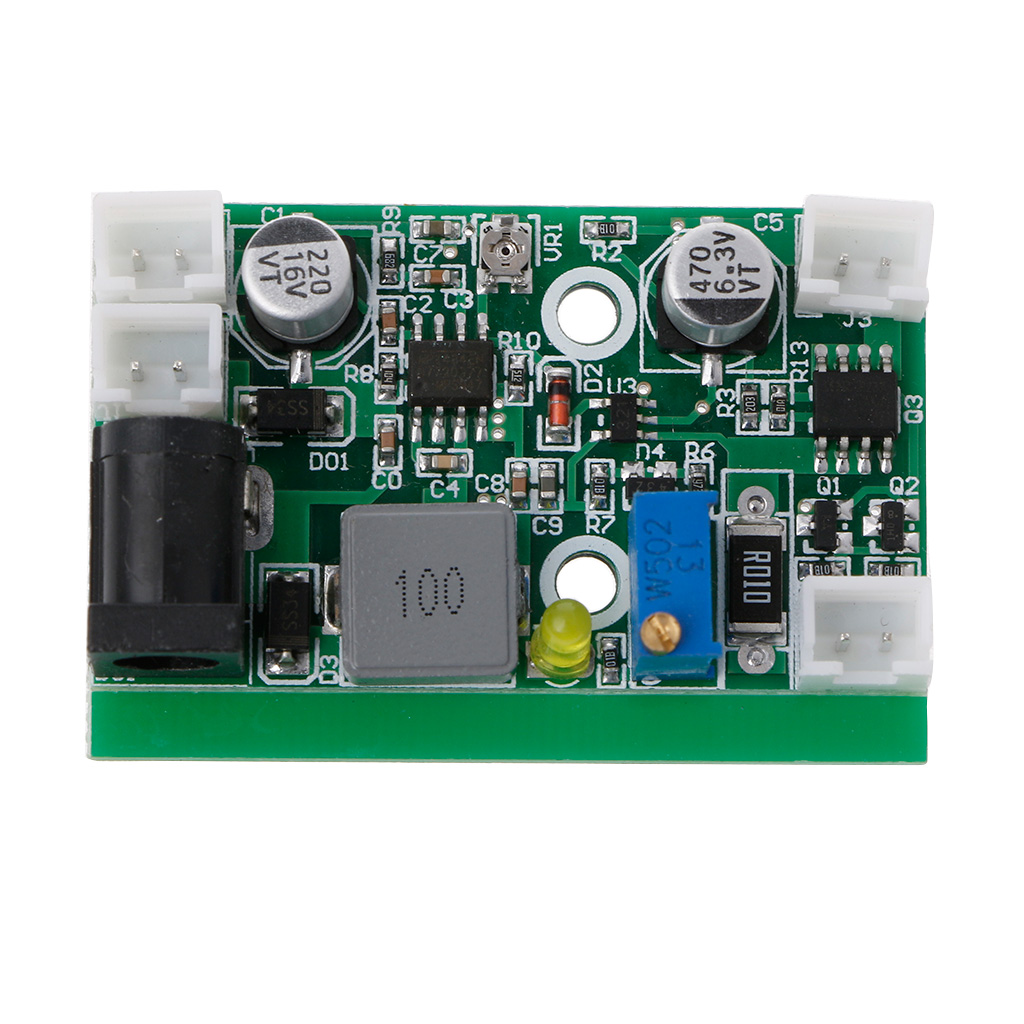 Electronic 12V TTL Step-down Laser Diode LD Power Supply Driver Board Stage -Y103 12vdc ttl 1w 2w blue 445nm 450nm laser diode ld driver power supply stage light