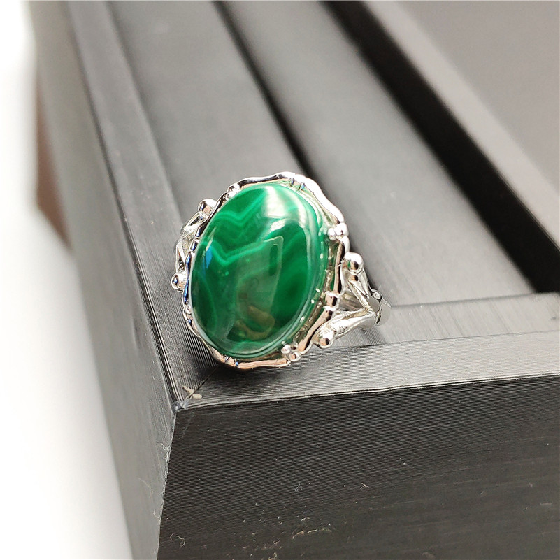 Natural Green Malachite Ring (3)