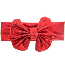Fashion cute girls big bowknot headbands quality gilded cloth knots headwear for children multicolors 10pcs/lot