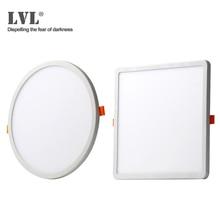 Luminária led ultrafina redonda e quadrada embutida, 6w 8w 15w 20w 220v, para banheiro interno luz do ponto do teto led