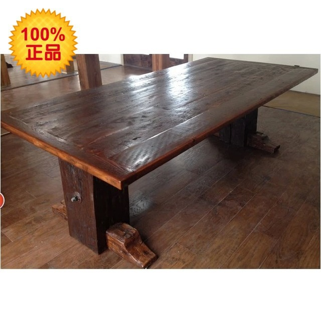 LOFT American Country Style Pine Wood Dining Table Solid Wood Design Desk  Computer Desk Office Desk