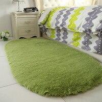 2018 New Oval Carpet Solid Color Winter Living Room Romance Soft Rug hallway Soft Carpet Warm Mat Long Hair Shaggy Soft Area Rug