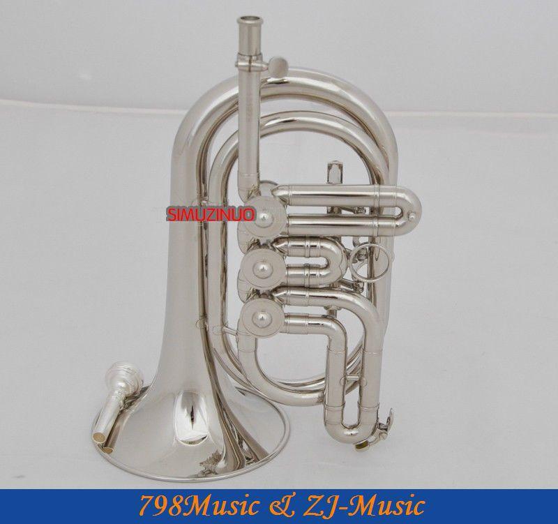 Профессиональный Серебряный никель роторный клапан корнет труба Bb рог с Чехол
