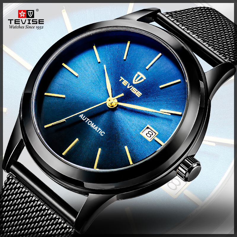 цены Tevise Brand Men Mechanical Watch Automatic Role Date Fashione luxury Clock Male Reloj Hombre Relogio Masculino