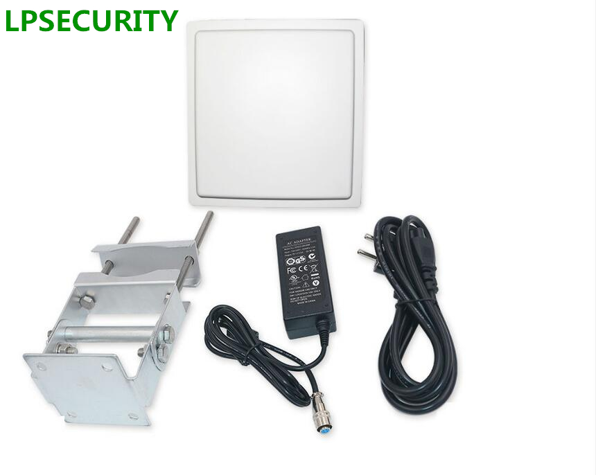 LPSECURITY 15M UHF Long Range Passive RFID Reader With 10 Windshied Tags For Parking System