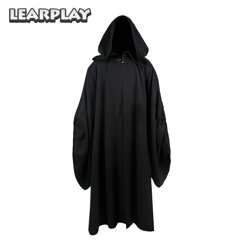 Star Wars Emperor Palpatine Darth Sidious Robe Cosplay Costume Black Cloak Halloween Christmas Tunic Uniform For