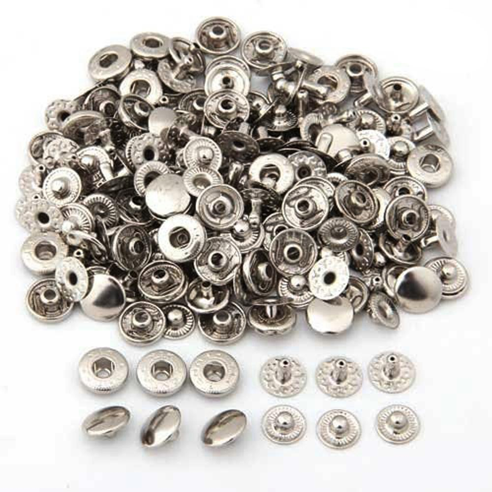 50 Set Metal No Sewing Press Studs <font><b>Buttons</b></font> Snap Fastener Popper <font><b>10mm</b></font> image