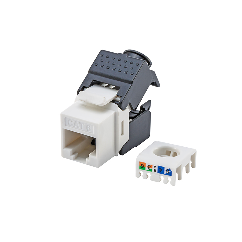 CAT6 Keystone Jacks RJ45 To LSA, Toolless Type, Fits Faceplate/wallplate & Blank Patch Panel
