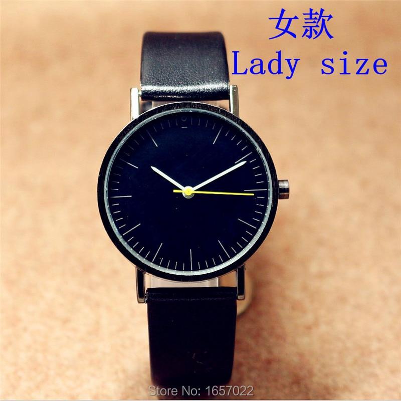 d4c57e825c32 Venta caliente mujeres casual simple correa de cuero del reloj del cuarzo  para las señoras nueva promoción vestido de regalo Relojes
