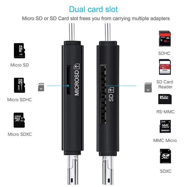 SD Card Reader USB 3.0 OTG Micro USB Type C Card Reader Lector SD Memory Card Reader For Micro SD TF USB Type-C OTG Cardreader 4
