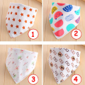 1Pc New Design Cute Infant Saliva Towel Cotton Double Buckle Baby Children Bib Aprons Waterproof