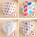1Pc New Design Cute Infant Saliva Towel Cotton Double Buckle Baby Children Bib Aprons Waterproof