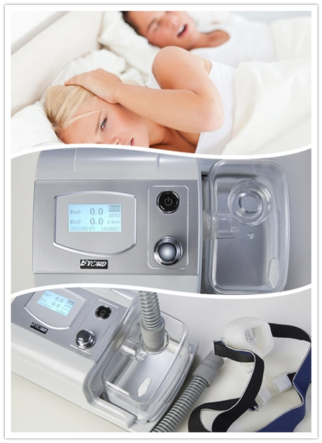 CE Approved 3.5 Inch TFT screen CPAP Portable Machine Respirator for Sleep Apnea Snoring People W/ Nasal Mask Headgear Tube Bag