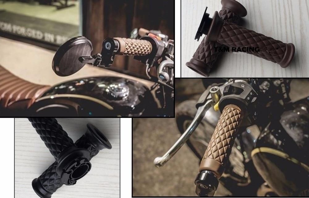 Moto Guidon 7/8 ''Main GripW Bar Fin Ducat scrambler