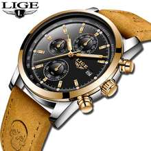 2018 LIGE Luxury Brand Watch Fashion Men Watches Military Quartz Chronograph Waterproof Business Relogio Clock
