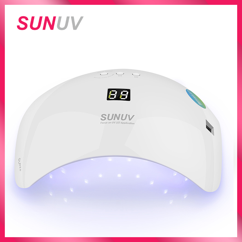 SUNUV SUN8 LED Nail Dryer 48W Lamp For Manicure Unique Low Heat Mode Nail Gel Dryer For Nail Polish Art Tools sun4 48w led nail dryer double light source low heat mode fingernail