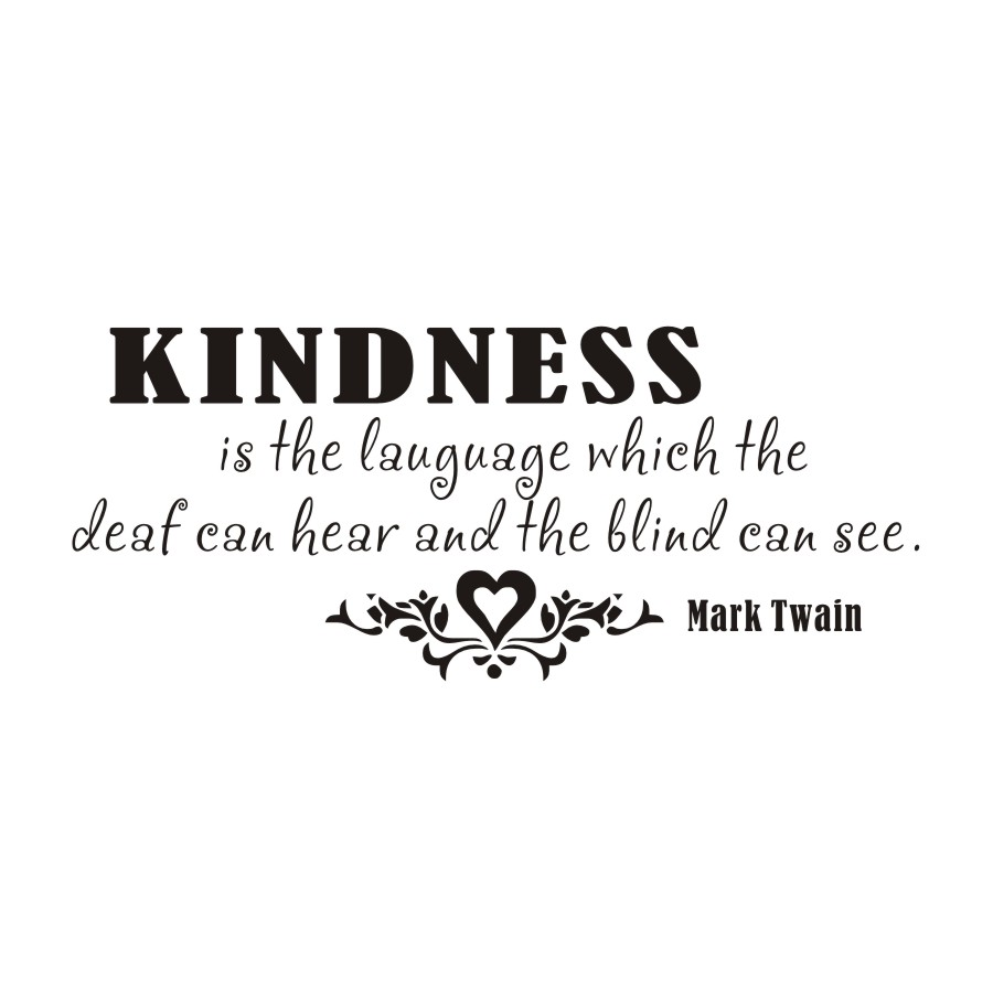 Inspirational Words Kindness Is The Language Saying Wall Sticker Inspirational Words