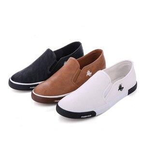 Image 4 - ZYYZYM أحذية أنيقة الرجال بو الجلود الرجعية تنفس الرجال حذاء خفيف في الهواء الطلق المتسكعون المشي Slacker حذاء رجالي