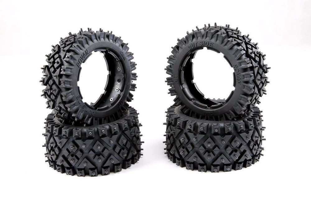 All terrain nail tire for Snow and wasteland for 1/5 hpi rovan km baja 5b ss rc car parts 6x car snow tire anti skid chains for lexus rx nx gs ct200h gs300 rx350 rx300 for alfa romeo 159 147 156 166 gt mito accessories