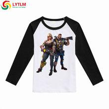 LYTLM hOT Game Tee Shirts for Kids Fortnight Shirt Teenage Girl Clothes Roupas Infantis Menino Boys T-shirt Long Sleeves Tshirt