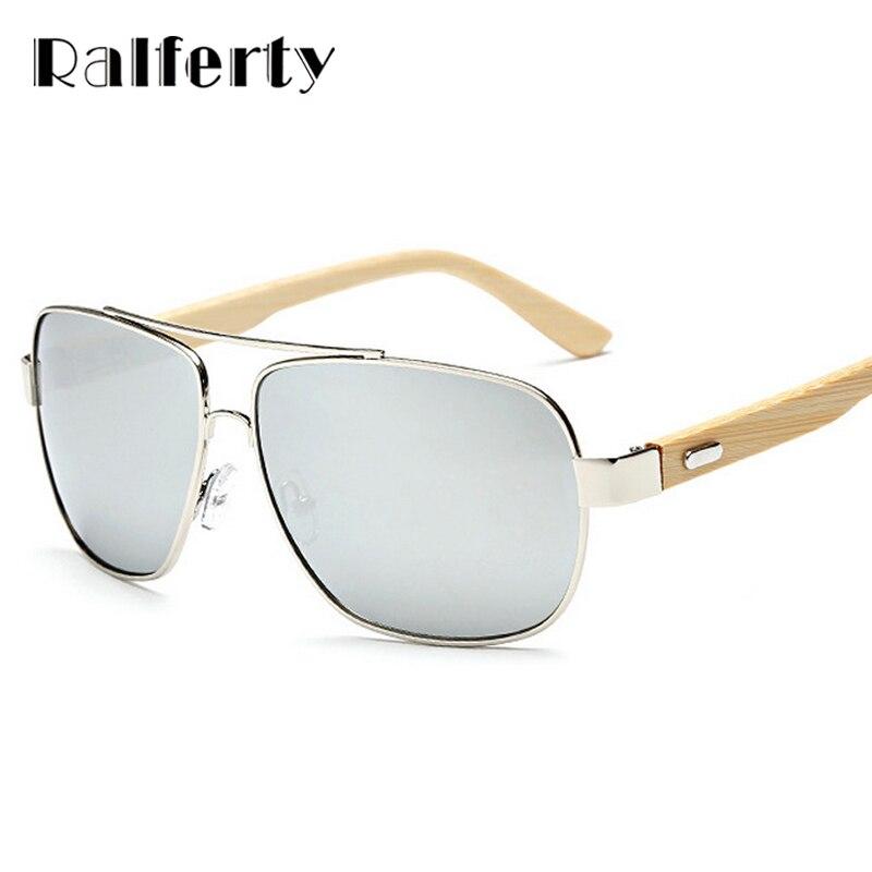Ralferty Unisex Quadrado De Madeira De Bambu óculos de Sol Das Mulheres Dos  Homens Revestimento de Óculos de Sol UV400 Esporte Óculos de Condução  Espelho de ... a56e240af3