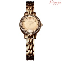 New 2016 Brand Kimio Quartz-watch Alloy Strap Clock Women's Watches relojes North Crystal Flower Dress Style Watch Women