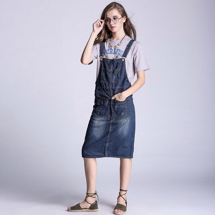 popular denim jumpsuit skirt buy cheap denim jumpsuit