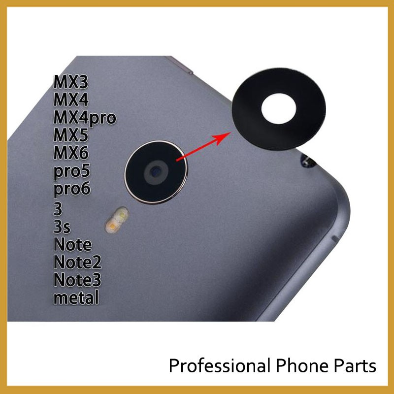 New Camera Glass For MEIZU MX4 MX5 Pro6 M2 mini M3s M5 M5s M6 Note 16th M6t Camera Glass Lens Housing Parts Replacement(China)