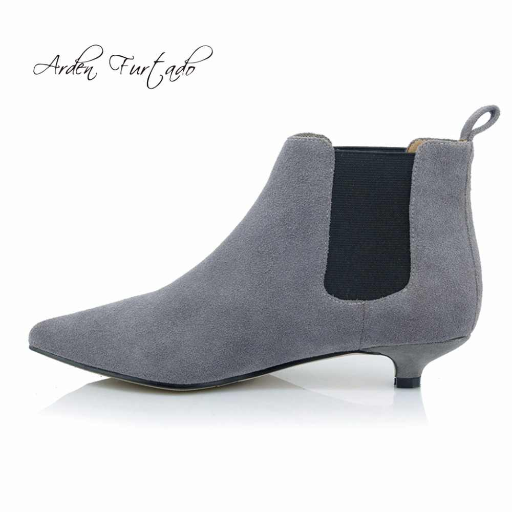 fashion exquisite design get cheap Arden Furtado 2018 new style shoes for woman low heels 3cm grey ...