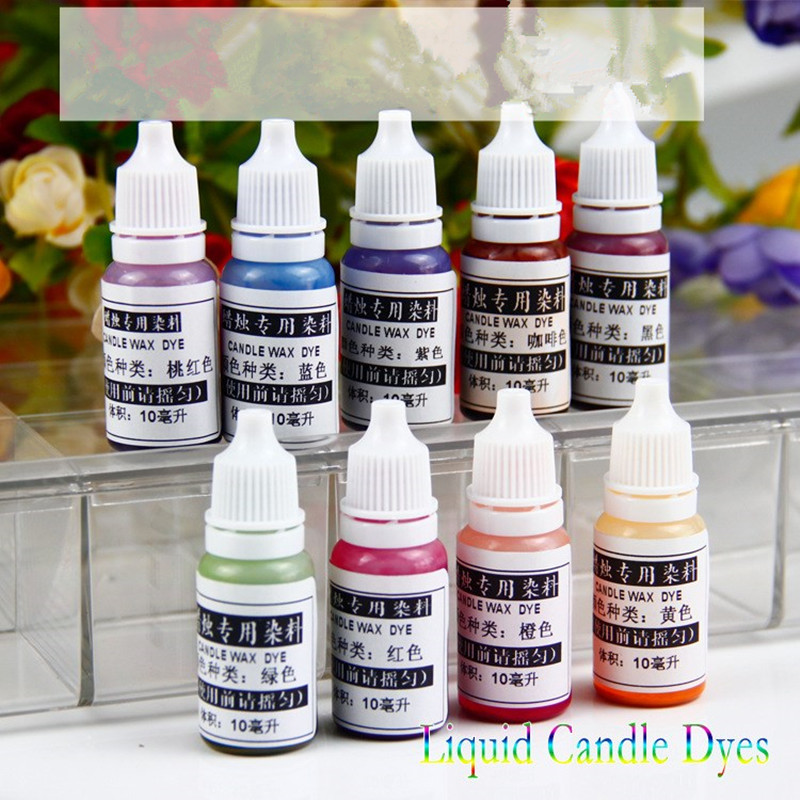 DIY Candle Pigment Liquid Candle Dyes 10ml Suitable For Jelly Wax Soybean Wax Ice Flowers Wax Beeswax Coconut Wax