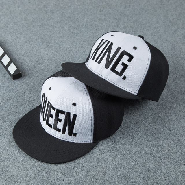 King Queen baseball cap Unisex Watches / Sunglasses / Caps color: Black Gold KING|Black Gold QUEEN|Black White KING|Black White QUEEN|white black king|white black queen