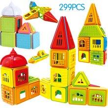 402 шт. конструктор магнитные блоки магнитные строительные игрушки набор магнитов Развивающие игрушки для детей подарок для детей
