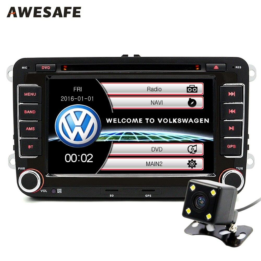 Prix pour 7 pouce 2 Din Voiture DVD GPS Radio Player pour Volkswagen VW golf golf 6 touran passat sharan jetta polo tiguan 2din DVD Navigation