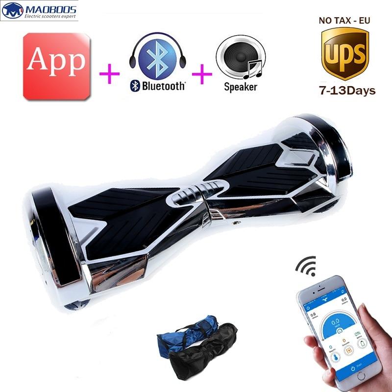 APP Hoverboard 8 pouce smart auto équilibrage led lumière électrique monocycle smart électrique planche à roulettes debout dérive électrique scooter