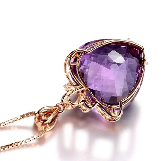Women NecklaceJewelry Heart Shape Crystal Chain Choker Necklace Jewelry  Gift 2