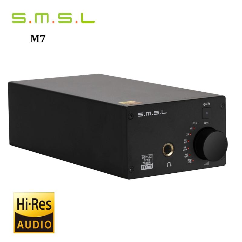 все цены на NEW SMSL M7 AK4452 * 2 32Bit/768KHz DSD512 Hifi Audio USB DAC with Headphone Amplifier XMOS LM4562 TPA120A2 онлайн