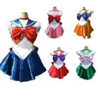 2019 Cosplay Halloween Anime Costume Sailor Moon Venus Jupiter Mercury Mars Saturn Uranus Rabbit Cosplay Dress for Girls 4xl
