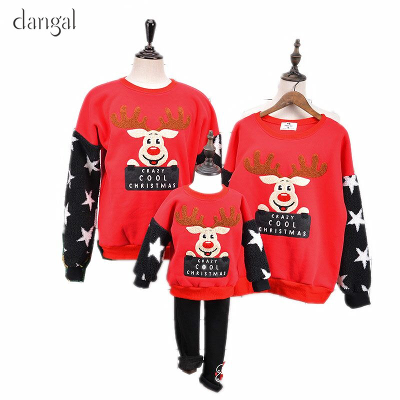 Dangal Christmas Sweaters Family Mother Father Daughter Christmas Sweaters Baby Girl Christmas Sweater Couples O Neck Pullover