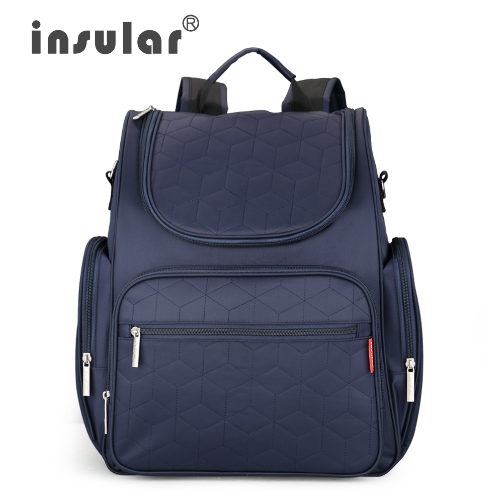 ФОТО 2016 New Arrival Insular Baby Diaper Backpack 210D Nylon heavy Duty Mommy Backpack  Nappy Bag Changing Bag