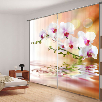 Senisaihon Modern 3D Blackout Curtains Panel Colorful Flower Series Pattern Fabric Children Bedroom Curtains for Living Room