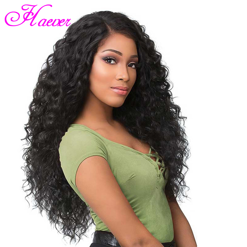 Brazilian Deep Wave Lace Front Human Hair Wigs With Baby Hair Pre Plucked 13x4 Human Hair Wig 150% Remy Human Wigs(China)