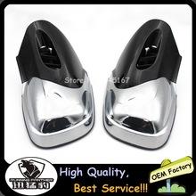 Czarne i chromowane lusterka wsteczne motocyklowe pasuje do BMW K1200 K1200LT K1200M 1999-2008 2007 2006 K1200 LT M K 1200 M LT tanie tanio RUNNING PANTHER CN (pochodzenie) Rearview Side Mirrors Fit For BMW K1200 K1200LT K1200M 18cm 18 5cm High quality of ABS Plastic